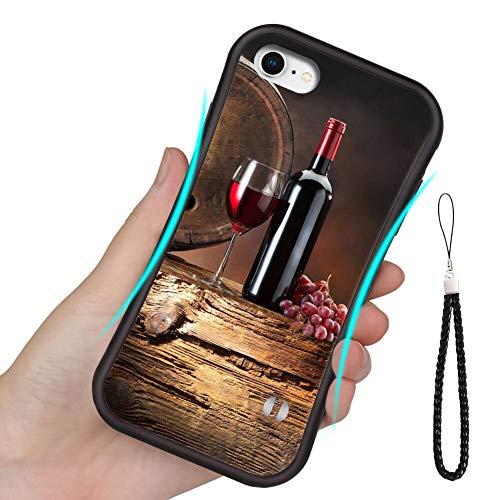 Carcasa de TPU compatible con iPhone 6S Plus y 6 Plus [5.5 pulgadas] Gy6 Mj7 vino uvas