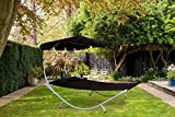 BIRCHTREE Garden Outdoor Patio Furniture <span class='highlight'>Double</span> Sun Lounger Day <span class='highlight'>Bed</span> Hammock Canopy Shade Relaxing Sunny Black New SDB08