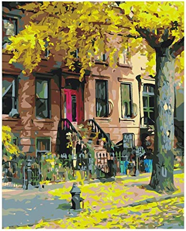 Agolong Laubwechselnde DIY Malerei nach Anzahl Landschaft Kalligraphie Malerei Moderne Wandkunst Bild einzigartiges Geschenk für Wohnkultur Mit Rahmen 40x50cm B07NVR8TQF | Vielfältiges neues Design