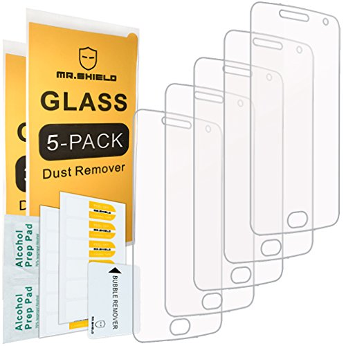 [5-PACK]- Mr.Shield Designed For Motorola Moto G5 Plus Moto G Plus (5th Generation) [Tempered Glass] Screen Protector [0.3mm Ultra Thin 9H Hardness 2.5D Round Edge] with Lifetime Replacement