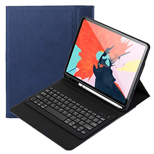 Keyboard Case for iPad Pro 11 inch 2022 - Leather Protective Cover with Wireless Bluetooth Keyboard QWERTY US Layout Built in Pencil Holder