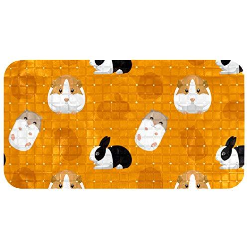 Bennigiry Alfombrillas para bañera de bebé de 26.9 x 14.7 pulgadas, para suelos de baldosas, secado rápido, roedores, mascotas y conejos.