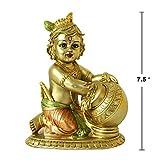 Hindu Lord Baby Krishna Statue - Indian Idol Krishna Figurines for Home Mandir Temple Pooja - India Murti Buddha Sculpture Religious Items
