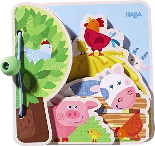 HABA- Livre pour Bébé Les Amis la Ferme, 300556