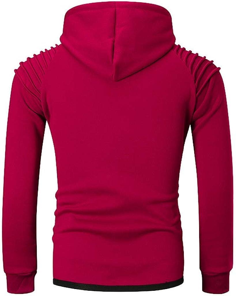 MODOQO Men's Zipper Jacket Casual Lightweight Sweatshirt Long Sleeve Pullover Hoodies