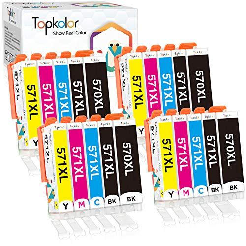 Topkolor 570XL 571XL Compatible para Canon PGI-570 XL CLI-571 XL Cartuchos de Tinta Compatible con Canon Pixma MG5750 MG5753 MG6851 MG5751 MG6850 TS5050 TS5051 TS6050 TS6052 TS5055 (20 Pack)