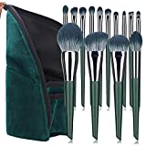 14 pincel de maquillaje juego completo de base de pincel pincel de sombra de ojos pincel de dispersión rojo herramientas de belleza con bolsa de pincel