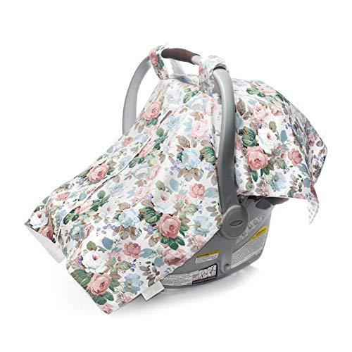 Funda para asiento de coche para bebé, funda para asiento de bebé 3 en 1, para prevenir la luz solar y el viento en la piel para mujeres lactantes(Numerous big flowers)