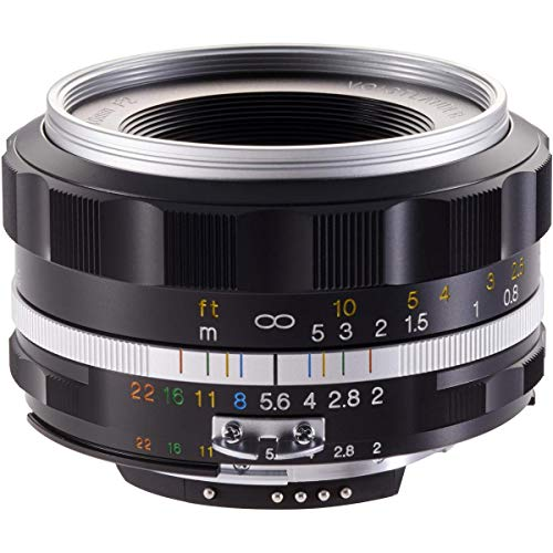 Voigtlander Ultron 40mm f/2 SL-II S Aspherical Compact Manual Focus Lens for Nikon - Silver Rim