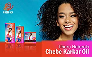 Uhuru Naturals Chebe Karkar Oil – Organic Conditioner w/Virgin Cold Pressed Sesame Seed & Ostrich Oil, Chebe & Honey Wax – Natural Hair Loss Prevention (4 oz)