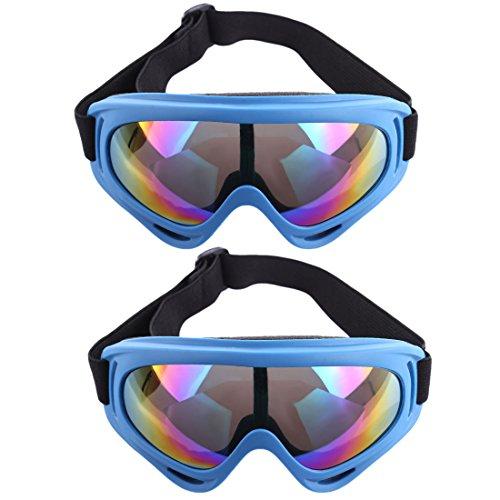 Foxom Occhiali Protettivi, 2 Pezzi Occhiali Tattico Airsoft Paintball a Prova di Esplosione Occhiali per Nerf, Blu Scuro