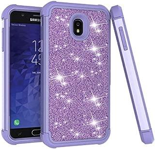 Galaxy J7 2018 Case, Galaxy J7 Refine/Galaxy J7 V 2nd Gen/Galaxy J7 Star/Galaxy J7 Aero Case, Dooge Glitter Bling Case Heavy Duty Armor Defender Impact Shockproof Protective Case for J7 2018