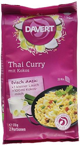 Davert Thai Curry, mit Kokos, 6er Pack (6 x 170 g) - Bio