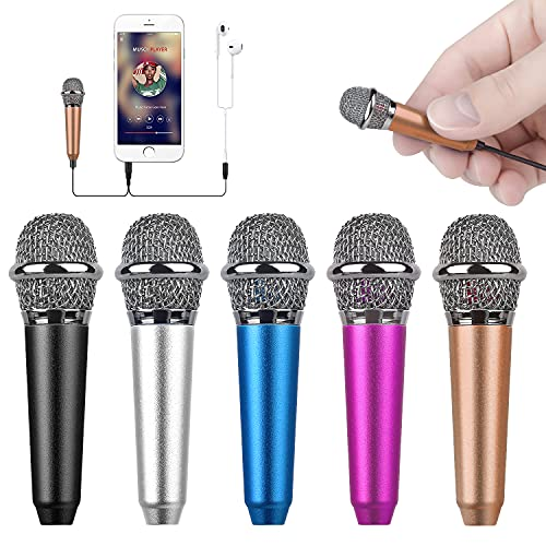 Uniwit mini portable vocal/instrument microphone for mobile phone laptop notebook apple iphone sumsung android with holder clip - golden …