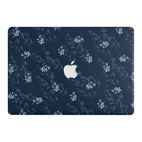 Ein-Mikrometer-Kunststoff-Hartschalenetui mit Blumenmuster, Kratzschutzhülle für das A1706/A1708 MacBook Pro 13
