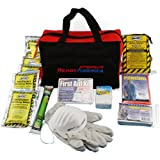 Ready America 72 Hour Emergency Kit 1-Person 3-Day Tote Bag, First Aid Kit, Hurricane, Bug Out Bag, 5-Year Food, 5-Year Water, Portable Preparedness for Camping Car Earthquake Travel Hiking Hunting
