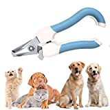 NECALON Dog & Cat Pets Nail Clippers and Trimmers,with Quick Safety Guard to Avoid Over,Cutting Toenail,Quick Sensor and Sharp Cuts,Suitable for Small Medium Large Breeds(Blue)