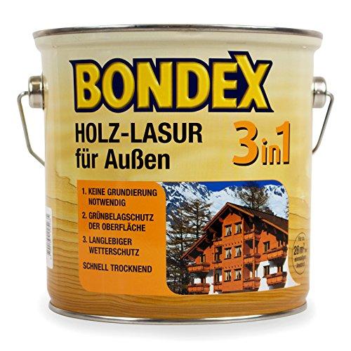 Bondex 3in1 Holzlasur für außen 0,75 Liter tannengrün
