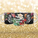 565pir Louis Armstrong Taza de café lo que para una maravillosa taza del mundo, taza de café personalizada, taza de café de 11oz Trompete taza de café Jazz