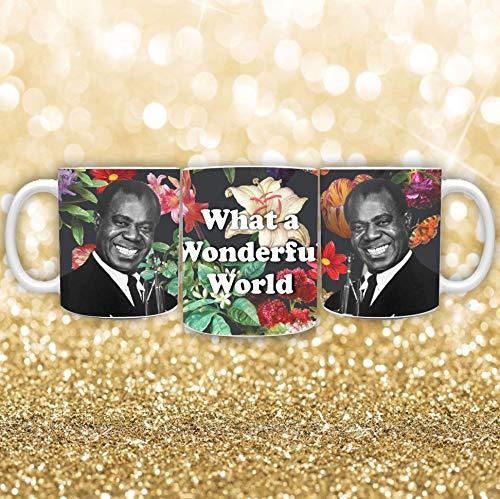Louis Armstrong koffie mok wat een prachtige wld mok nieuw leans koffie mok aangepaste koffie mok 11oz trompet koffie mok jazz muziek mok
