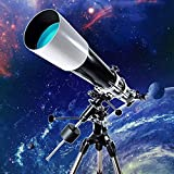 Reflector profesional Telescopio de calendamiento de estrellas HD, telescopios de refractor, telescopios astronómicos de apertura de 90 mm con trípode ajustable y soporte de teléfono inteligente , par