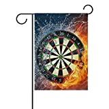 LIANCHENYI Cool Darts On Fire Wasser doppelseitig Familie Flagge Polyester Outdoor Flagge Home Party Decro Garten Flagge 71,1 x 101,6 cm