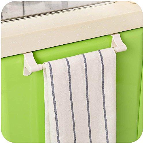Zhirui toallero organizador de toallas para colgar en el estante de la barra de la toalla, organizador de almacenamiento de la cocina
