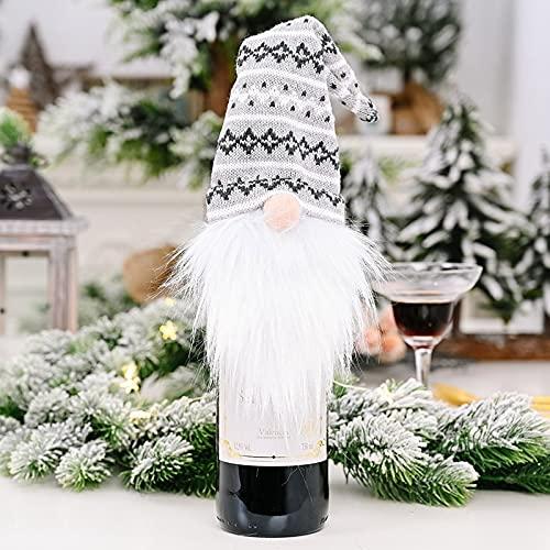 Bolsa De La Cubierta De La Botella De Vino De La Navidad Papá Noel De La Botella De Vino Bolsa De Regalo Cena De Navidad Cena De Navidad Decoración De Mesa Navidad Feliz Navidad (Color : A)