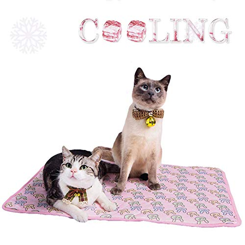 Yu-Xiang Dog Ice Pad Ice Silk Cats Kennel Mat Pet Cooling...