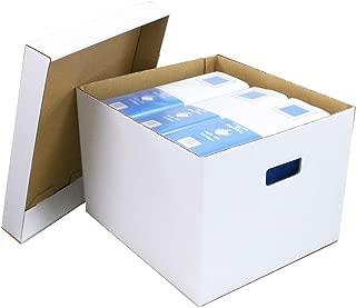 アースダンボール ダンボール エコバンカーケース(白) 書類 ファイル 収納用 保管用 10枚セット 【0086】