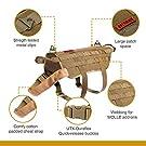 OneTigris Tactical Dog Molle Vest Harness Training Dog Vest with Detachable Pouches (Tan, X-Large) #3