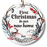 First Christmas in Our New Home 2021 Christmas Ornament, Whimsical Woodland Ornament, Housewarming...