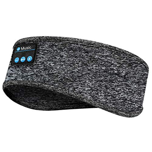 Sleep Headphones Bluetooth, Sleep Headphones for Side Sleepers - Noise Cancelling Headphones for Sleeping, Wireless Sports Sleeping Headphones Headband for Running Yoga, Gifts for Women Men Kid (Grey)
