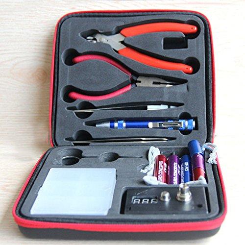 Kit per sigarette elettroniche,kit di accessori fai DIY per fumatori di sigarette elettroniche intraprendenti,bobina fai DIY,ohmmetro,pinza diagonale,forbici,cacciavite,pinzette in ceramica a gomito