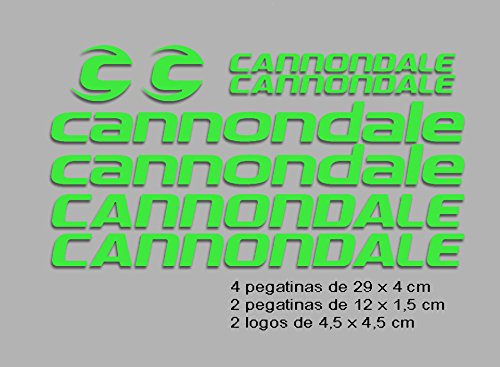 Ecoshirt TN-PFBM-GUAE Pegatinas Cannondale F117 Vinilo Adesivi Decal Aufkleber Клей MTB Stickers Bike, Verde