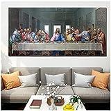 La Última Cena de Leonardo Da Vinci pintura al óleo carteles impresos e impresión de cuadros decorativos de pared Cuadros para la decoración de la sala de estar