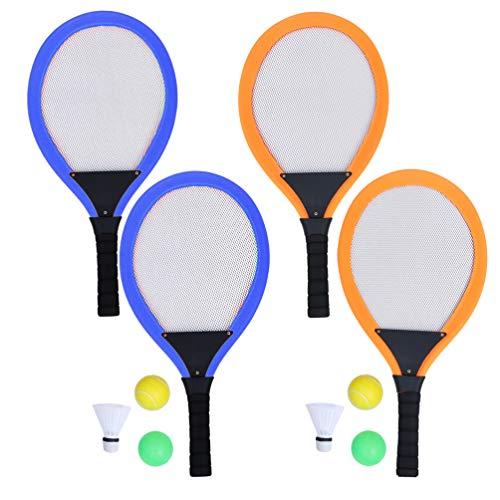 BESPORTBLE, 10 peças de raquetes de tênis infantis, pequenos raquetes de badminton com bola Shutterlock, brinquedos esportivos interativos para ambientes internos e externos