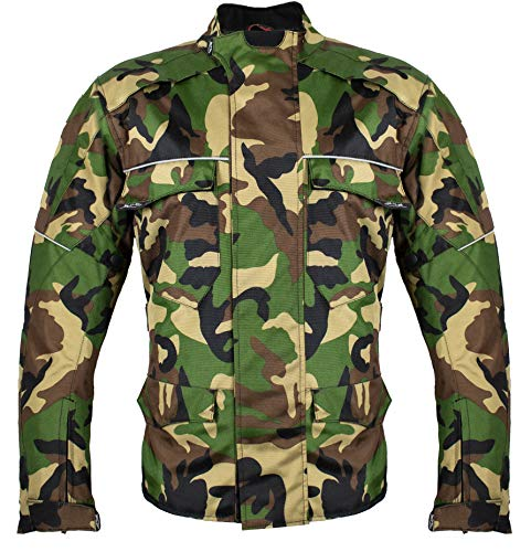MDM Textil Motorrad Jacke Motorradjacke Camouflage wasserdicht Wärmeschutzjacke (4XL)