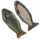 DII Cotton Lake House Fish Oven Mitts, 6 X 16.5' Set of 2, Machine Washable and Heat Resistant for Kitchen Cooking and Baking