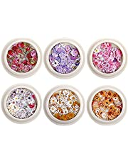 Nail 6box Real De Flores Secas Conjunto Mini Verdadero Natural Seco Flores 3D Apliques De Uñas De Arte Decoración Uñas Etiqueta