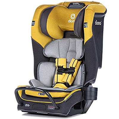 Diono 2020 Radian 3QX, 4-in-1 Convertible, Safe+ Engineering, 3 Stage Infant Protection, 10 Years 1 Car Seat, Fits 3 Across, Yellow Mineral by AmazonUs/SULY9