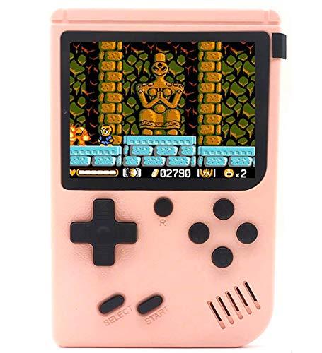 O RLY 800 in 1 Handheld Spielkonsole Retro FC Plus Konsole 800 Retro Classic Spiel, 3 Zoll Bildschirm Mini Videospiel-Spieler (Rosa)