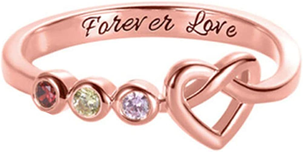 New life Love Birthstone Ring Personalized Lettering Free Text Jacksonville Mall Anniv