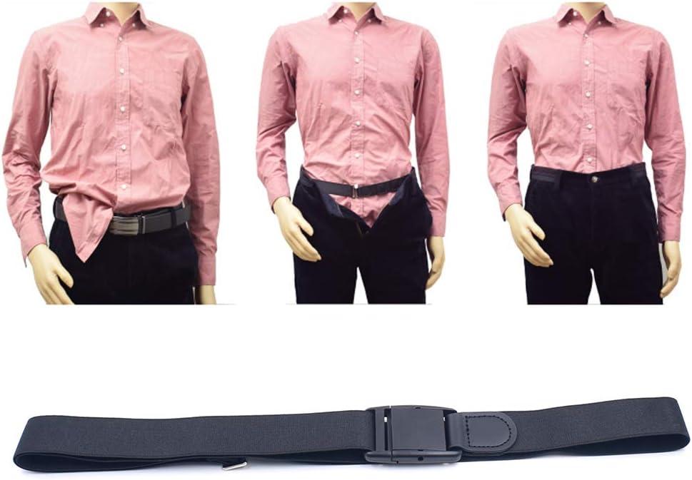 SUPVOX 2pcs Shirt Stay Belt Adjustable Shirt Lock Undergarment Belt for Men and Women Keeping Shirt Tucked in - 3CM (Black)