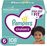 Diapers Size 6, 108 Count - Pampers Cruisers Disposable Baby...