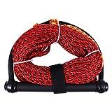 Abaodam Wasser-Ski-Seil mit schwarzem Griff, 1 Abschnitt, Wakeboard, Kneeboard, Seil für Bootfahren...
