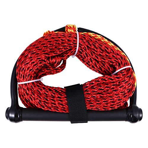 Abaodam Wasser-Ski-Seil mit schwarzem Griff, 1 Abschnitt, Wakeboard, Kneeboard, Seil für Bootfahren (Zufällige Farbe)