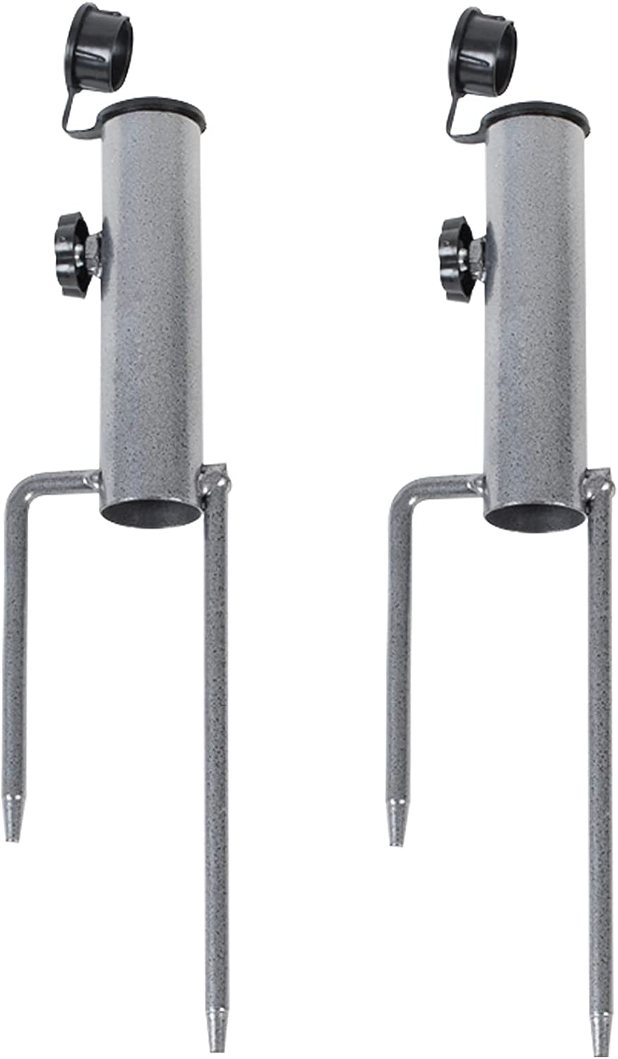 2Pcs Patio Umbrella Steel Stand Beach Lawn Outdoor Max 58% OFF Sand Now on sale
