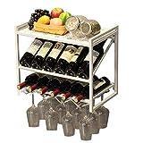 MY1MEY Portabotellas para Vino montado en la Pared |Botella y Soporte de Vidrio |Ven con 12 encantos de Vino de Corcho |Decoración para hogar y Cocina |Estante de Almacenamiento |Botellero con