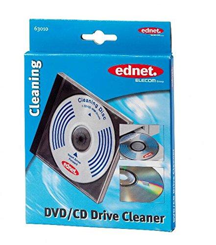 Ednet reinigingscd met speciale borstels voor zachte reiniging van de lens in cd-station
